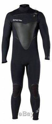 Hyperflex Wetsuit Men's Voodoo 4/3mm Front Zip Fullsuit, Black, X-Large Short