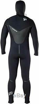 Hyperflex Wetsuit Men's Voodoo 6/5/4mm Hooded Front Zip Fullsuit, X-Large