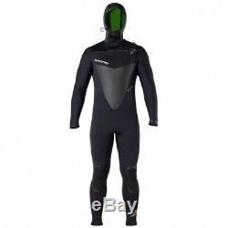 (Large Short, Black) Hyperflex Wetsuits Men's Voodoo 6/5/4mm Hooded Front