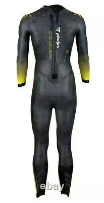 MP MICHAEL PHELPS Mens Racer 2.0 Wetsuit (Black/Yellow) 5mm Core Mens Large