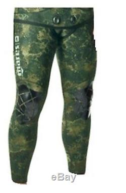Mares 5.5mm Instinct Wetsuit (Pants Only) Freediving Scuba Diving Green Camo