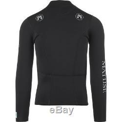 Matuse 2103 2MM Long-Sleeve Front Zip Top Men's Black L