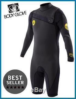 Men's Body Glove Prime Springsuit Shorty Wetsuit 2mm Long Sleeve Surfing 16122