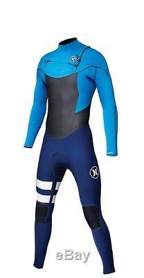 Men's Hurley Phantom 303 Fullsuit Wetsuit Sz LT Large Tall Blue Surf New NWT