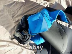 Men's XCEL Large Tall Neon Blue 3/4/5mm Wetsuit, Surfing, Scuba, Kiteboarding
