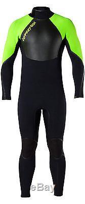 Mens Hyperflex VooDoo Wetsuit 3/2mm Back Zip Voo Doo Surfing Diving TOP LINE