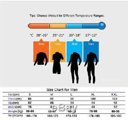 Mens Neoprene 5mm Full Body Warm Winter Diving Suit Wetsuit Two-piece Snorkeling