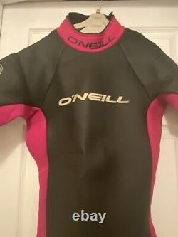 Mens Oneill Wetsuit Size Large Ex Con Womens Detachable Arms Black Pink Sup Surf