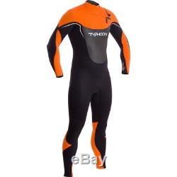 Mens Typhoon Vortex OFZ 3/2mm Chest Zip Wetsuit Black/Orange
