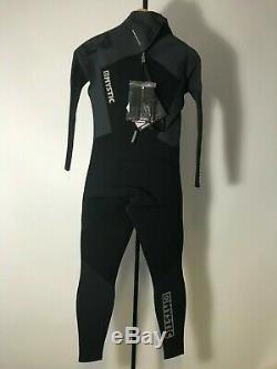 Mystic Star Mens Fullsuit 5/4mm Back zip wetsuit Black X Large