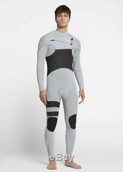 NEW $250 Men's Hurley Advantage Plus Wetsuit 3/2 FullSuit Wolf Grey S MS M LS XL