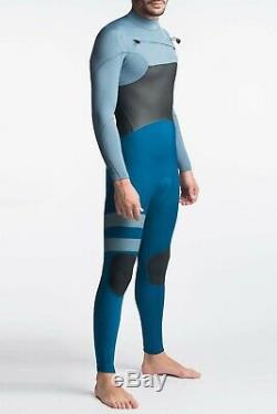 NEW $250 Men's Hurley Advantage Plus Wetsuit 3/2MM FullSuit Blue Force M LS L XL