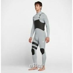 NEW $250 Mens Hurley Advantage Plus Wetsuit 3/2MM FullSuit Grey Large Tall LT