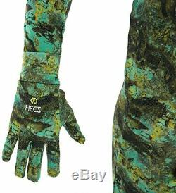 NEW HECS Aquatic Dive Skin Camo Wetsuit 1mm Spearfishing Free Diving suit