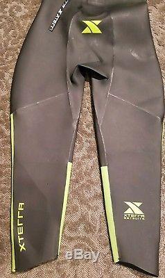 NEW NWT Xterra Mens L Vector Pro Glow Green Wetsuit triathlon easy on/off flex
