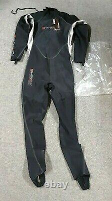 NEW Sharkskin ChillProof Trilaminate Micro Fleece Wetsuit Mens Large #369