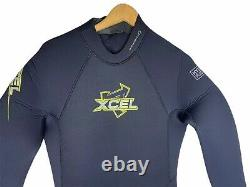 NEW Xcel Mens Full Wetsuit Size Large ThermoFlex 7/6 Compression Resistant Black