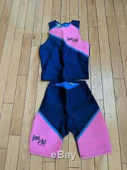 NOS Vintage JET SKI BODY GLOVE KAWASAKI MENS LARGE Pink/Blue Wet Suit