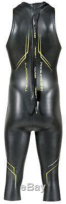 NeoSport Men's John Triathlon Wetsuit Black/Green Large New