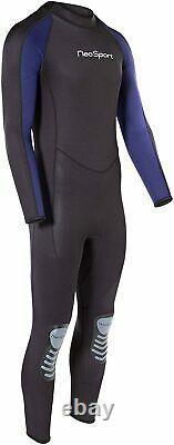 NeoSport Wetsuits Premium Neoprene 7/5 mm Full Suit Blue Trim Large