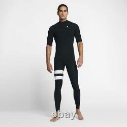 New $220 Men's Hurley Advantage Plus 2/2 Short Sleeve Wetsuit Black MS MT LS LT