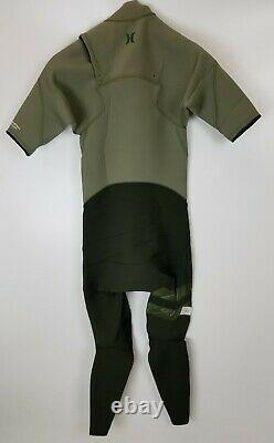 New $220 Mens Hurley Advantage Plus 2/2 Short Sleeve Wetsuit Green S M MT LT XXL