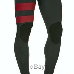 New $250 Men's Hurley Advantage Plus Wetsuit 3/2 Full Suit Anthracite&Red Large