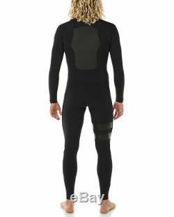 New $310 Men's Hurley Fusion 403 Wetsuit 403 FullSuit 4/3mm Black Sizes S M XL
