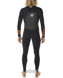 New $430 Men's Hurley Phantom 202 Wetsuit Full Suit 2mm Black Size S XLT