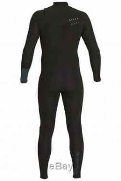 New Billabong Wetsuit Revolution Men Steamer 3 2 Gbs Large L Chest Zip Black