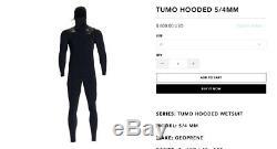 New Matuse Tumo 5/4 Hooded Extra Large Short Wetsuit