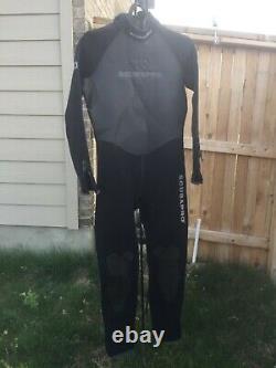 New mens Scubapro 3mm full wetsuit black L large diving scuba Watersport Dive