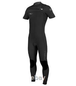 O'NEILL Men's 2mm HYPERFREAK FZ S/S Wetsuit BLK/BLK/GRAPH Size Large Tall