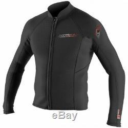 O'NEILL Men's 2mm SUPERLITE L/S Wetsuit Jacket BLK Large NWT