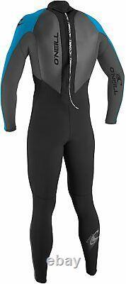 O'NEILL Men's 3/2 REACTOR BZ Wetsuit BLACK/SMOKE/TAHITI Large Short LAST ONE