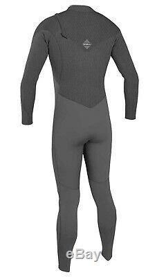 O'NEILL Men's 4.3 HYPERFREAK COMP Zip-Free Wetsuit MNITEOIL/GRPH Large NWT