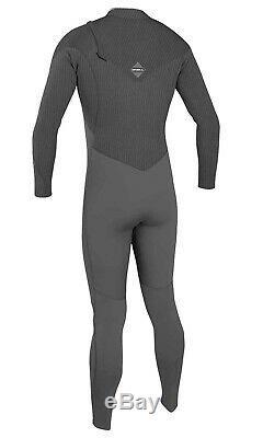 O'NEILL Men's 4.3 HYPERFREAK COMP Zip-Free Wetsuit MNITEOIL/GRPH Large NWT