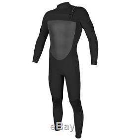 O'NEILL Men's 4/3 ORIGINAL FZ Wetsuit BLK/BLK Large NWT