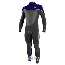 O'NEILL Men's 4/3 PSYCHOTECH FUZE Wetsuit Blk/Indica/Blaze Large NWT