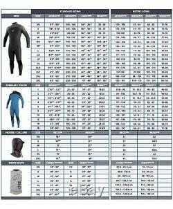 O'Neill Dive Wetsuits Mens 7mm J-Type Full Suit with Hood, Black, XX-Large