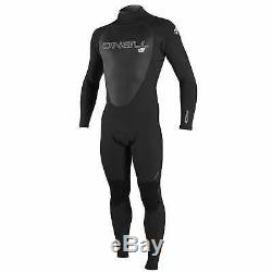 O Neill Epic 4/3mm Back Zip Mens Surf Gear Wetsuit Black All Sizes