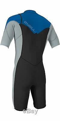 O'Neill Hammer 2mm Men's Chest Zip Wetsuit Black/Grey/Ocean Size L, XL, 2XL