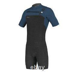 O'Neill Hyperfreak 2MM Chest Zip Men's Shorty Wetsuit (Acid Wash/Abyss)