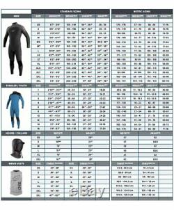O'Neill Men's Dive J-Type 7mm Back Zip Full Wetsuit with Hood Black Large