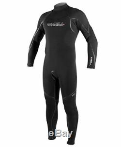 O'Neill Men's Dive Sector 3mm Back Zip Full Wetsuit, Black, Large Tall