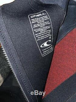 O'Neill Men's Epic 4/3mm Back Zip Full Wetsuit, Black/Black/Black, 3X-Large