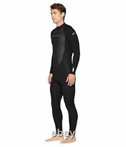 O'Neill Men's Reactor-2 3/2mm Back Zip Full Wetsuit Black/Black L