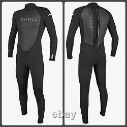 O'Neill Men's Reactor II 3/2mm Back Zip Full Wetsuit (Large) (NEW withtags)