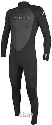 O'Neill Reactor 2 3/2mm Full Body Neoprene Wetsuit for Men Color Blk/Blk Large