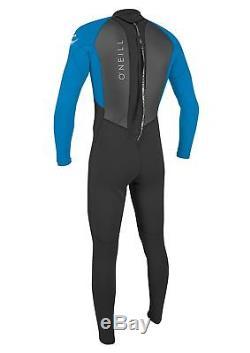 O'Neill Reactor II 3/2mm Wetsuit Black & Ocean (2018) Mens Back Zip